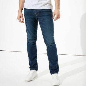 American Eagle Slim Straight Mens Jeans Dark 34